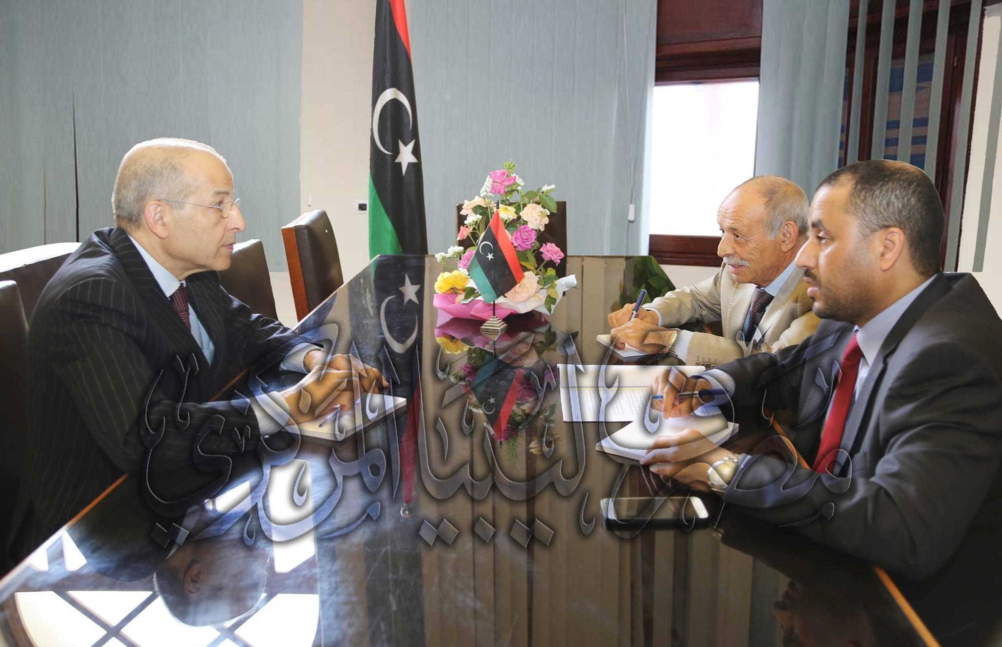 إجتماع محافظ مصرف ليبيا المركزي برئيس المجلس الأعلى للدولة