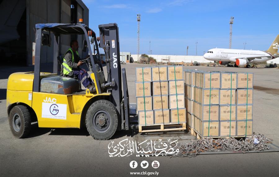 مصرف ليبيا المركزي يرسل شحنة مالية للمصارف التجارية بالمنطقة الجنوبية