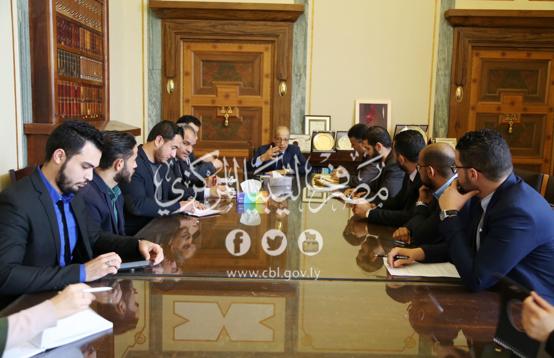 السيد المحافظ يلتقي اتحاد عام طلبة ليبيا والمنظمة الوطنية لدعم الشباب