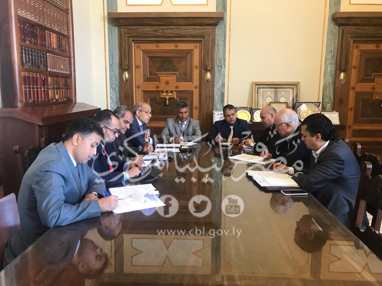 اجتماع مُوسَّع بمصرف ليبيا المركزي بشأن الملاحظات الواردة حول تقرير ديوان المحاسبة عن العام 2017