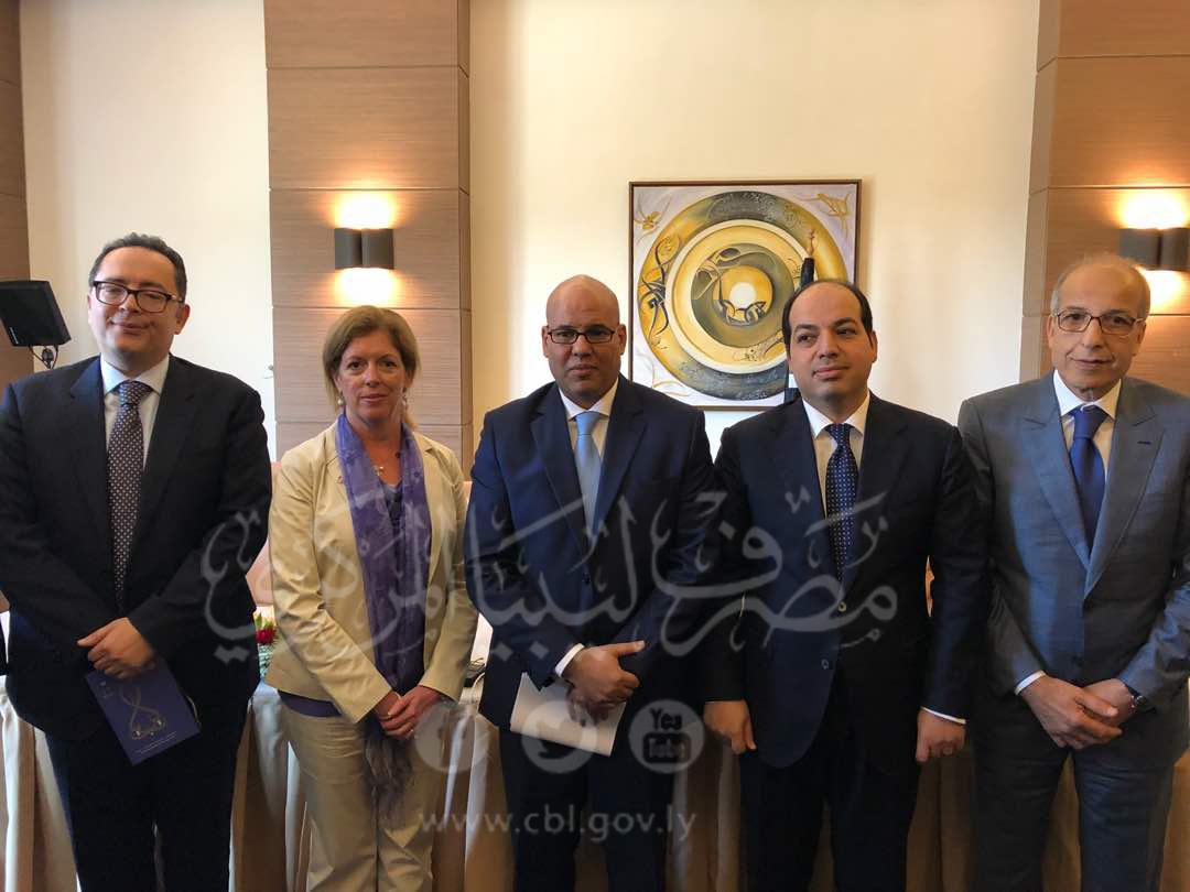 ملخص كلمة محافظ مصرف ليبيا المركزي الصديق عمر الكبير اليوم 05-06-2018 في المؤتمر الصحفي المنعقد بمناسبة جلسة الحوار الإقتصادي الليبي في تونس