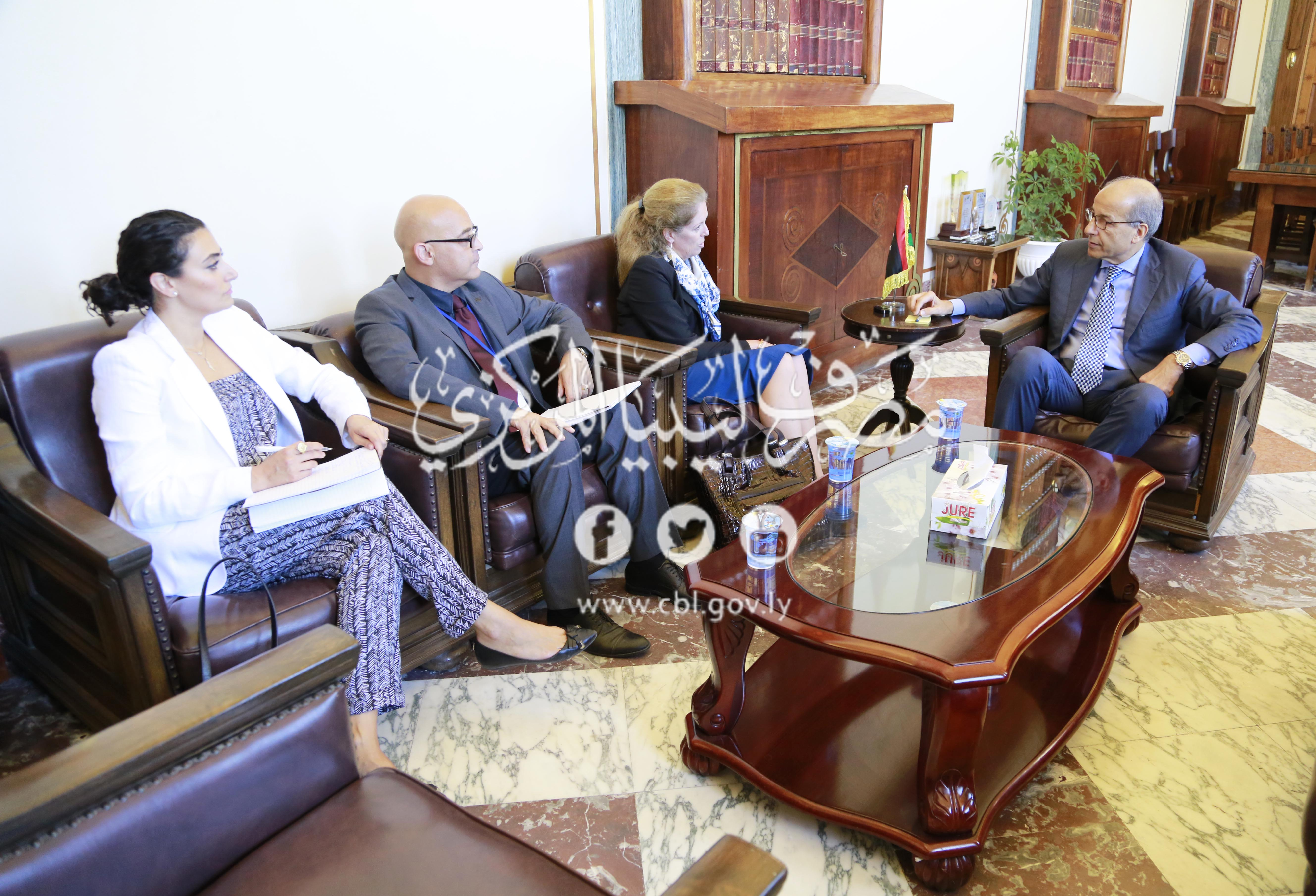 لقاء المحافظ مع نائبة المُمثل الخاص للأمين العام للأمم المتحدة للشؤون السياسية في ليبيا