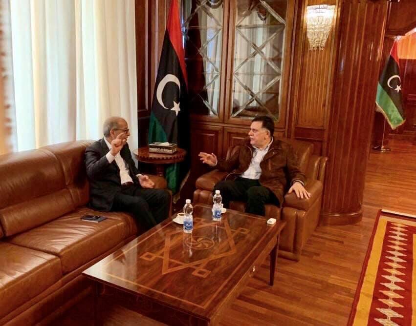 المحافظ يلتقي رئيس المجلس الرئاسي لحكومة الوفاق الوطني