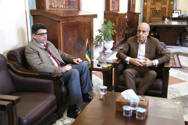لقاء السيد المحافظ مع السيد رئيس ديوان المحاسبة الليبي