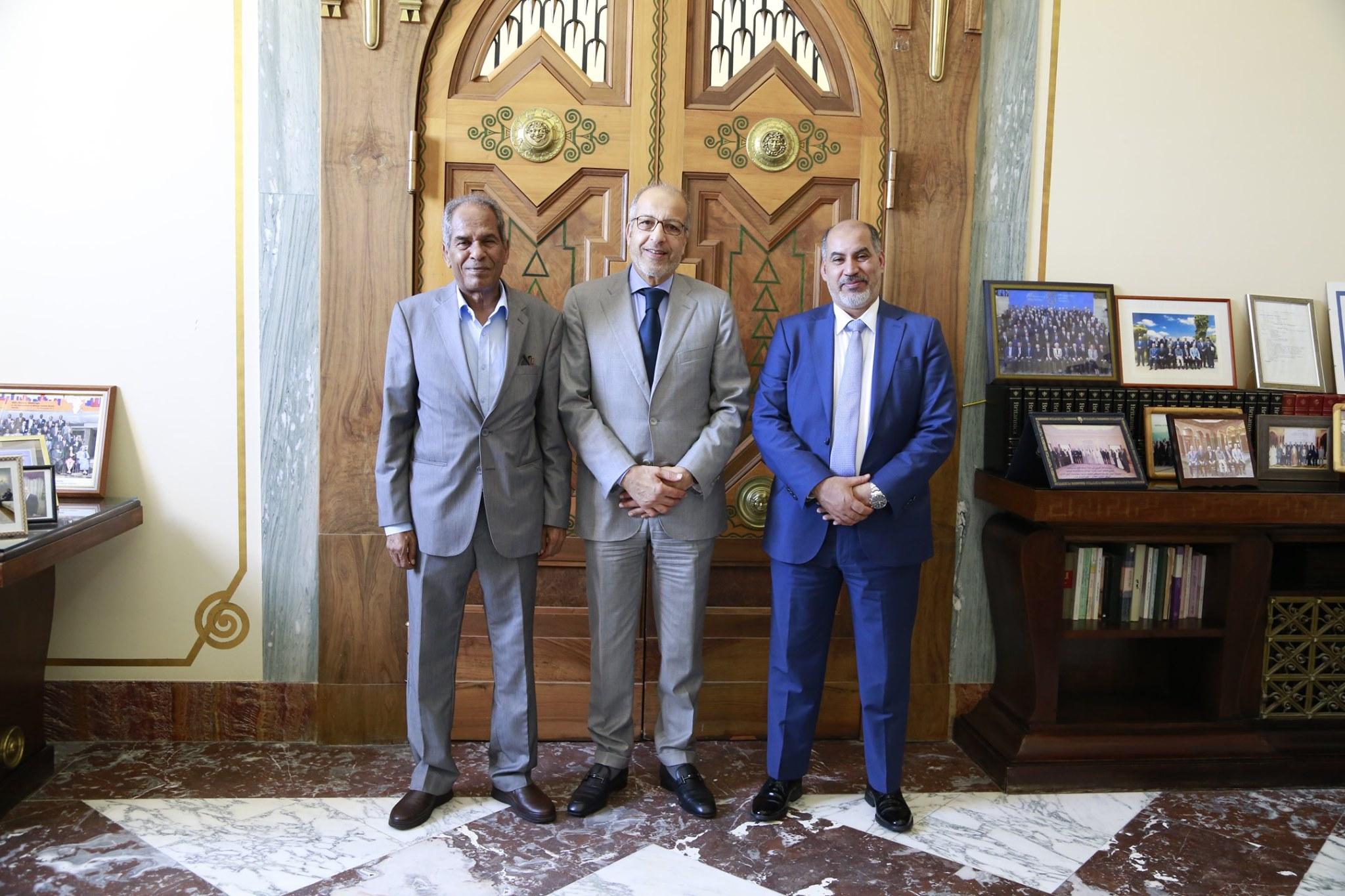 إجتماع مع نائب رئيس المجلس الرئاسي لحكومة الوفاق الوطني ونائب رئيس المجلس الأعلى للدولة