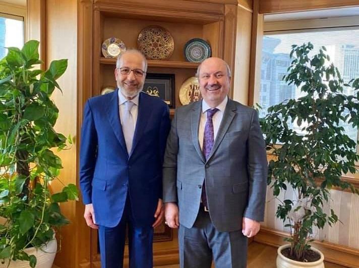 إجتماع محافظ مصرف ليبيا المركزي مع رئيس هيئة الاشراف والتنظيم التركية
