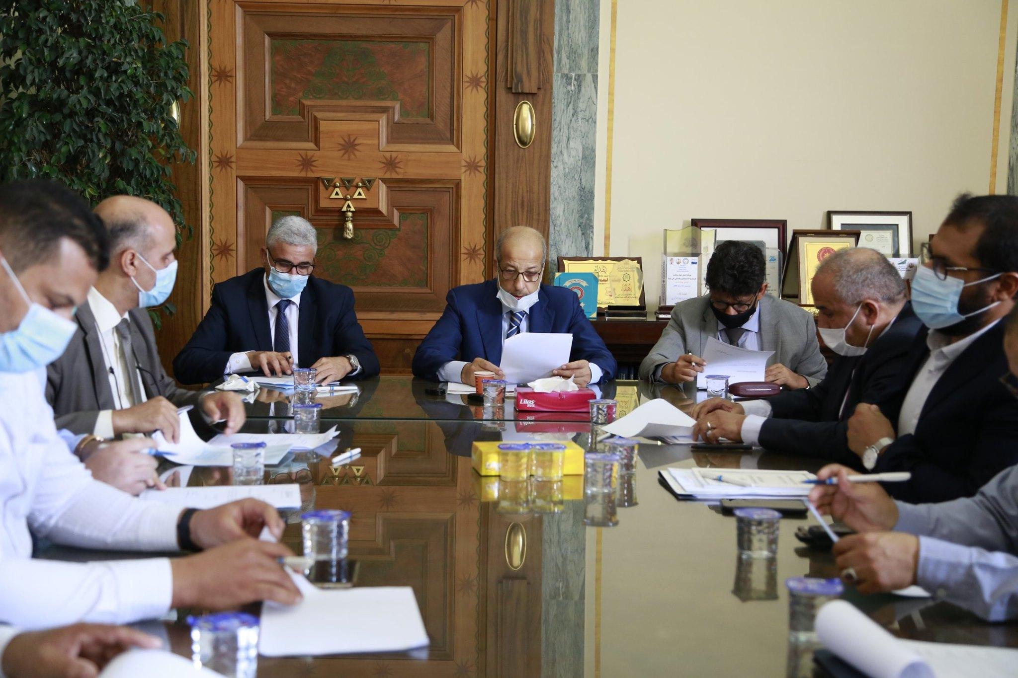 إجتماع اللجنة الوطنية لمكافحة غسل الأموال وتمويل الإرهاب